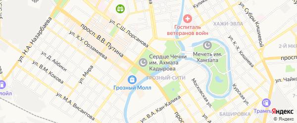 СНТ им.Бутенко на карте Грозного с номерами домов