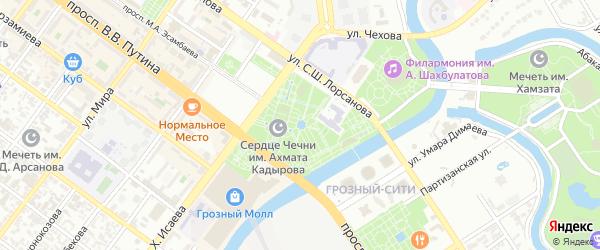 Улица Гарданова на карте Грозного с номерами домов