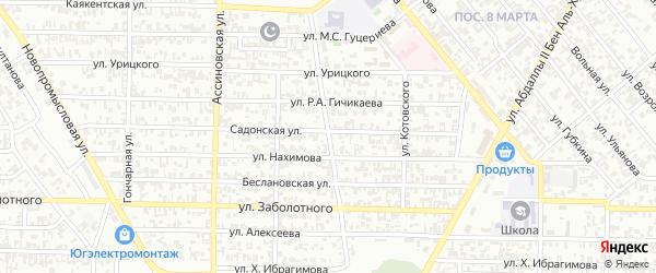 Алханчуртовская улица на карте Грозного с номерами домов