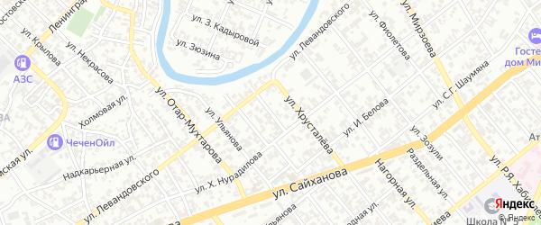 Посевной переулок на карте Грозного с номерами домов