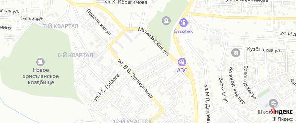 Улица С.И.Карнаева на карте Грозного с номерами домов