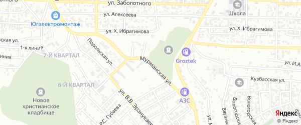 Мурманская улица на карте Грозного с номерами домов