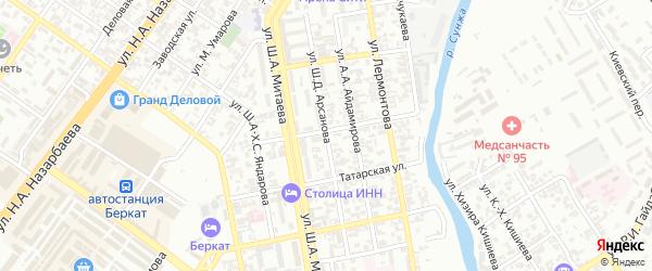Улица им П.Лумумбы на карте Грозного с номерами домов