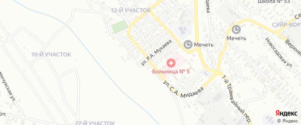 Улица С.А.Мидаева на карте Грозного с номерами домов