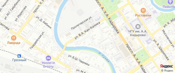 Улица им Блюхера на карте Грозного с номерами домов