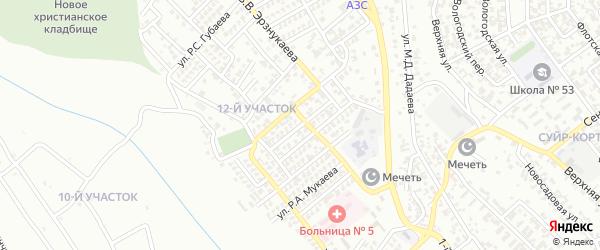 Улица А.Х.Уматгириева на карте Грозного с номерами домов
