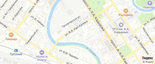 Улица им Ахриева на карте Грозного с номерами домов