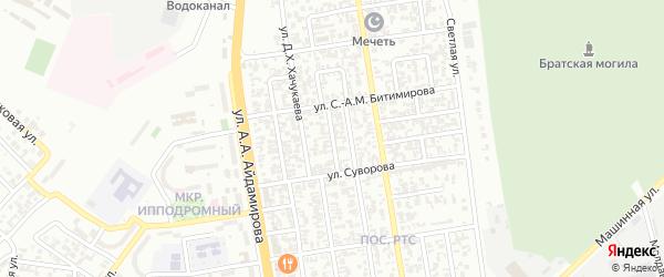 Шелковская улица на карте Грозного с номерами домов