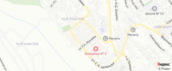Улица М.А.Сулаева на карте Грозного с номерами домов