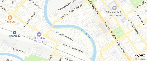 Черкасская улица на карте Грозного с номерами домов