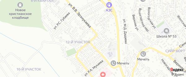 Улица А.О.Бибулатова на карте Грозного с номерами домов