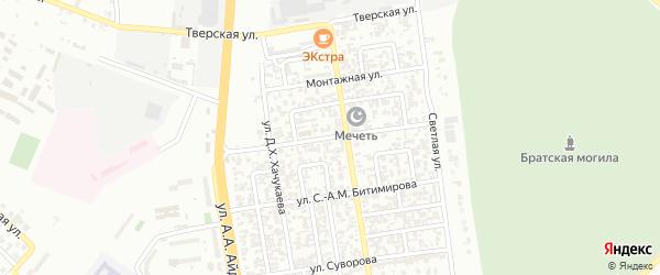 Ипподромная улица на карте Грозного с номерами домов