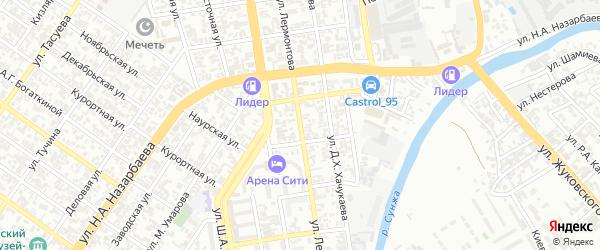 Улица Лермонтова на карте Грозного с номерами домов