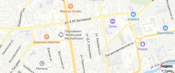 Переписная улица на карте Грозного с номерами домов