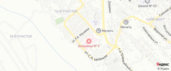 Улица им академика Х.Ибрагимова на карте Грозного с номерами домов