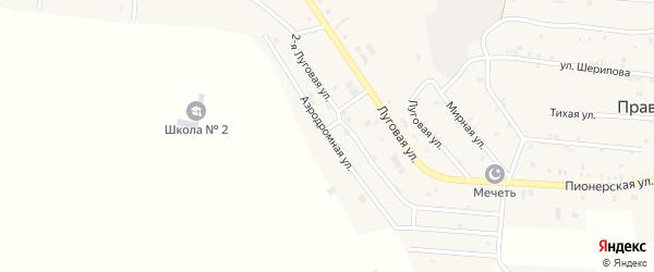 Аэродромная улица на карте Правобережного села с номерами домов