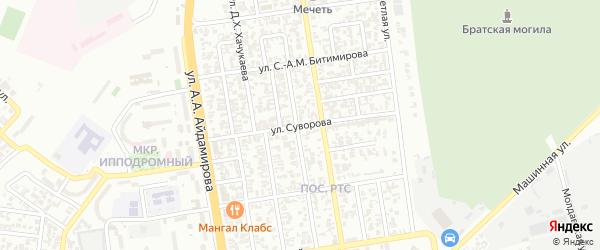 Улица Суворова на карте Грозного с номерами домов