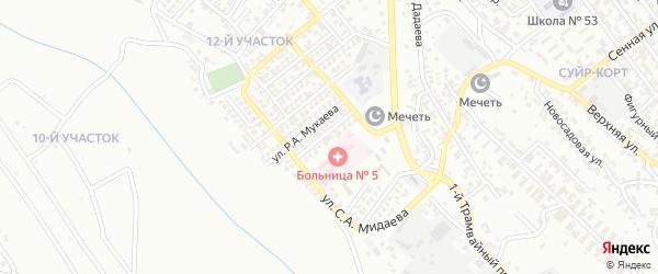 12-й участок на карте Грозного с номерами домов