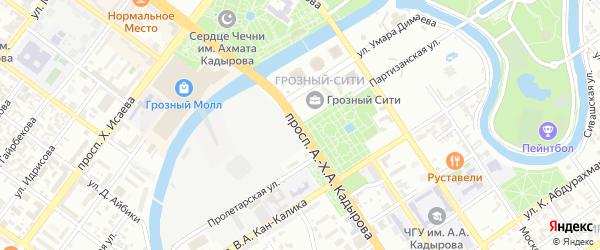 Партизанская улица на карте Грозного с номерами домов