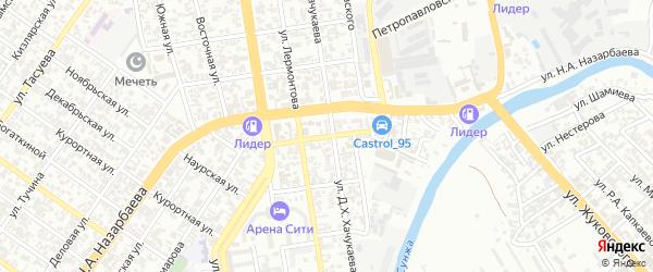 Круговая улица на карте Грозного с номерами домов