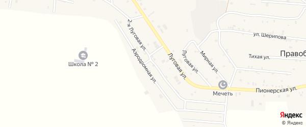 Улица Луговая 2-й на карте Правобережного села с номерами домов