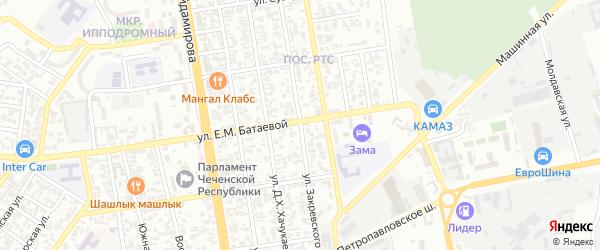 Улица Закревского на карте Грозного с номерами домов