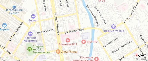 Слободская улица на карте Грозного с номерами домов