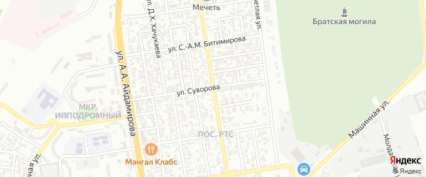 Улица Абухова на карте Грозного с номерами домов