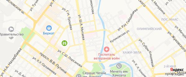 Карта поселка Гикало в Чечне с улицами и номерами домов