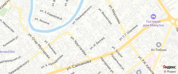 Улица им Степана Разина на карте Грозного с номерами домов