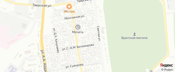 Светлый переулок на карте Грозного с номерами домов