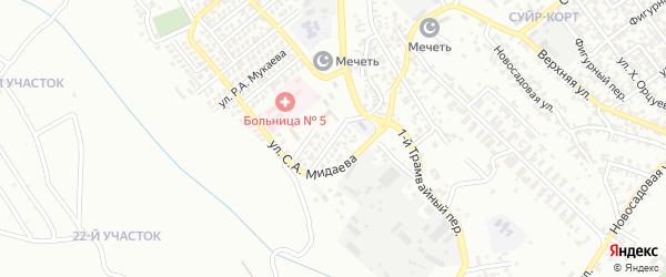 Улица Ш.Б.Дудагова на карте Грозного с номерами домов