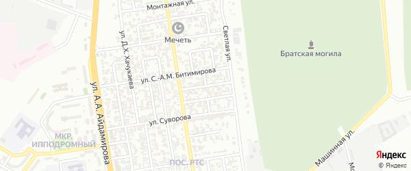 Курганный 2-й переулок на карте Грозного с номерами домов