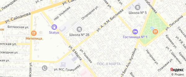 Им Ш.М.Хаджиева 1-й переулок на карте Грозного с номерами домов