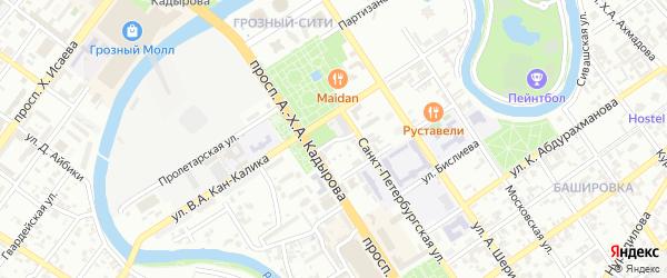 Интернациональный переулок на карте Грозного с номерами домов