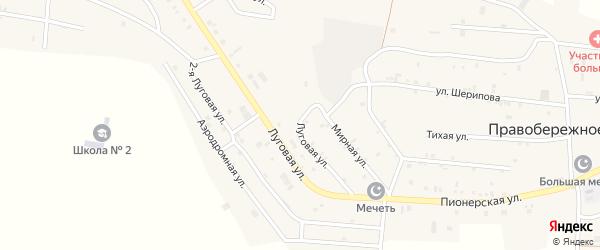 Луговая улица на карте Ильиновская станицы с номерами домов