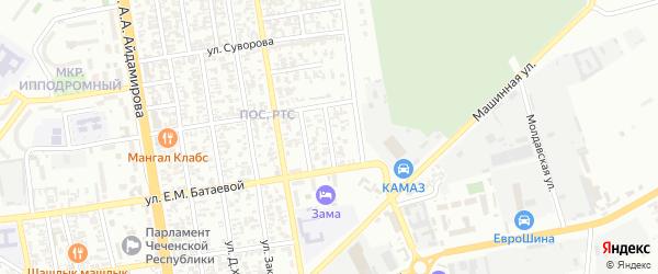 Балтийская-Чукотская улица на карте Грозного с номерами домов