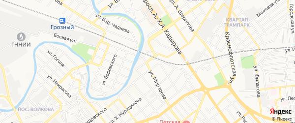 СТ Сады Кавказа на карте Грозного с номерами домов
