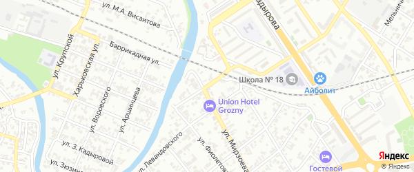 Улица Обороны Кавказа на карте Грозного с номерами домов