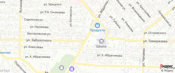 Улица имени Абдаллы 2 бен аль-Хусейна на карте Грозного с номерами домов