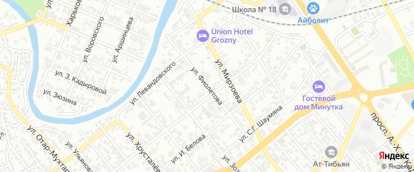 Улица Фиолетова на карте Грозного с номерами домов