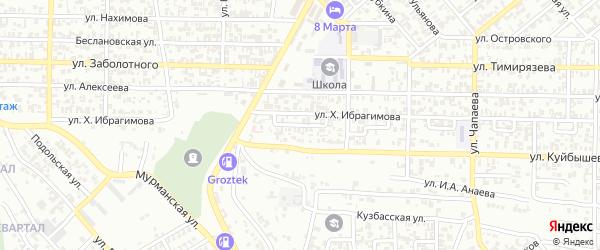 Арбатский 4-й переулок на карте Грозного с номерами домов