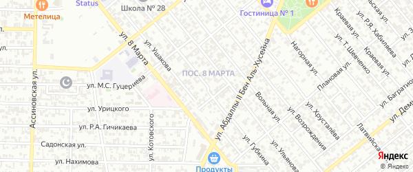 Улица Губкина на карте Грозного с номерами домов