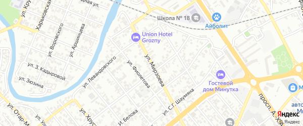 Улица им Мирзоева на карте Грозного с номерами домов
