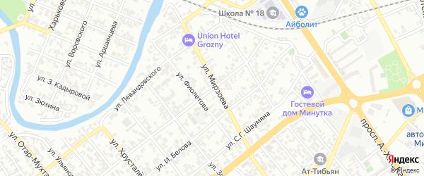 Улица им Нурадилова на карте Грозного с номерами домов