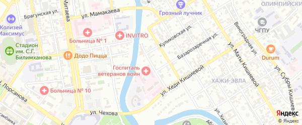 Улица им Жданова на карте Грозного с номерами домов