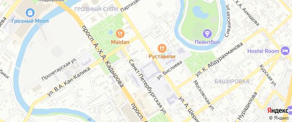 Улица Сафонова на карте Грозного с номерами домов