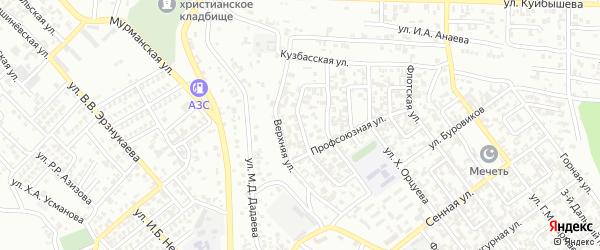 Флотский 1-й переулок на карте Грозного с номерами домов