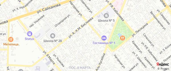 Улица Хрусталева на карте Грозного с номерами домов