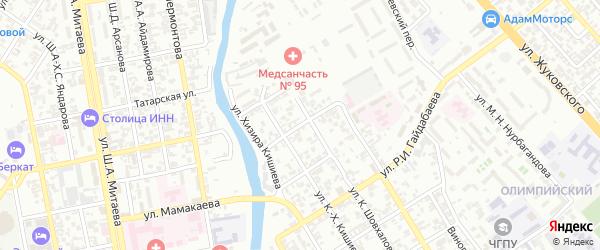 Ремесленная улица на карте Грозного с номерами домов